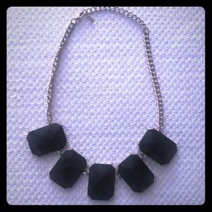 Black stone necklace by Baublebar